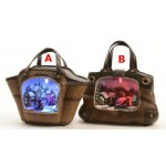 Lumineo LED Handbag Christmas Scene With Mechanical Display