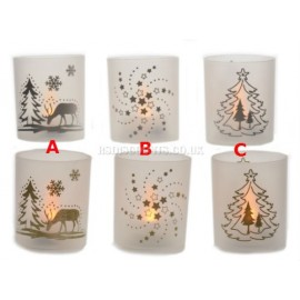 Lumineo Delightful Battery Operated LED Tea Lights In A Cup 3 Designs
