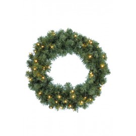 Everlands Imperial 48 LED Soft Needle Wreath 50cm Indoor & Outdoor