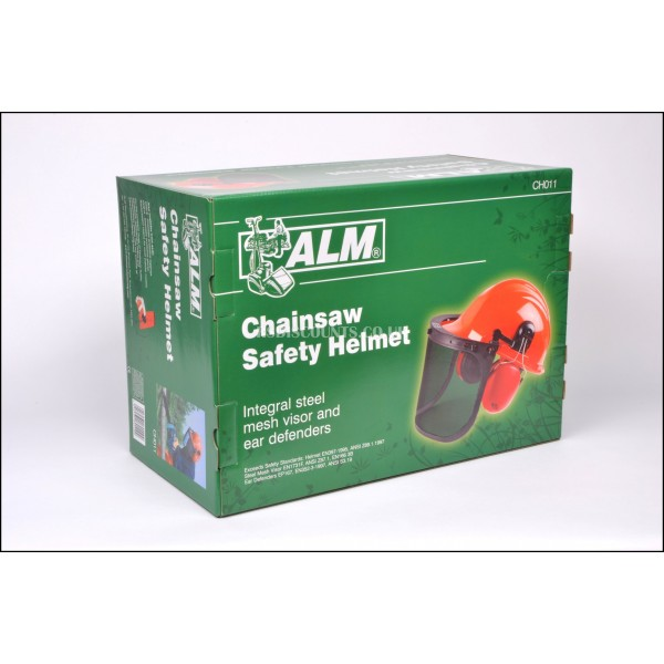 ALM CH011 Chainsaw Safety Helmet with Ear Defenders & Metal Mesh Face Shield
