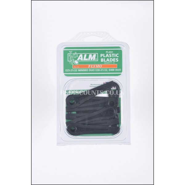ALM FL241 Plastic Blades For Flymo Minimo Duo E25 E30 Lawnmowers