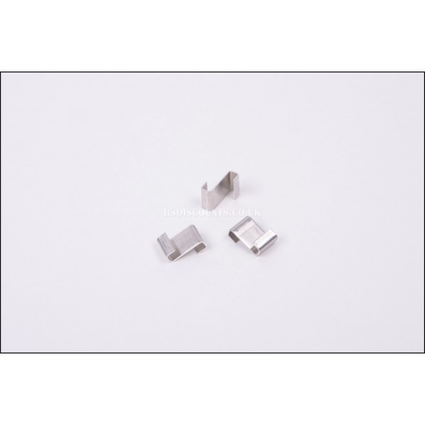 ALM GH002 Aluminium Greenhouse Z Clips X 50 Glass Supports