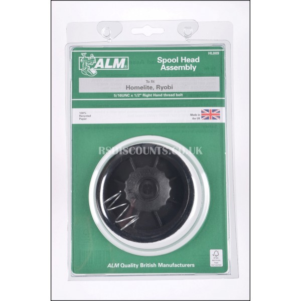 ALM HL009 Trimmer Spool Head Assembly & Line for Ryobi & Homelite Trimmers