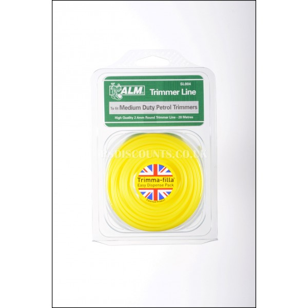ALM SL004 Medium Duty Round Trimmer Line 20m x 2.4mm