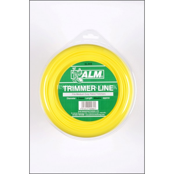 ALM SL008 Medium Duty Round Trimmer Line 2.4mm x 90m