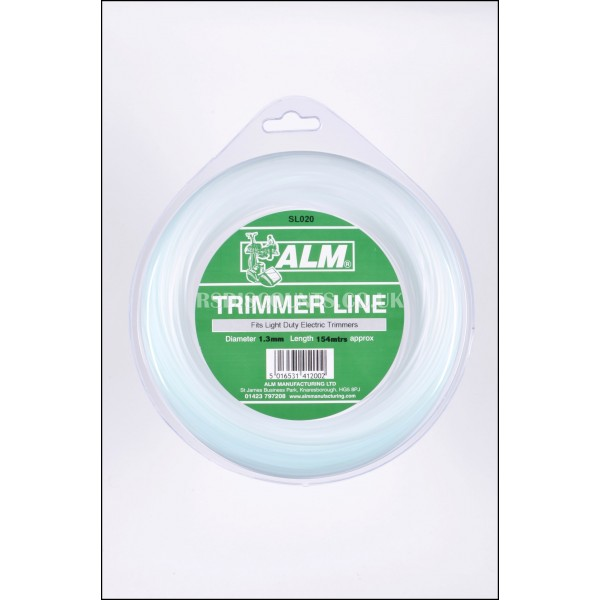 ALM SL020 Light Duty Round Trimmer Line 1.3mm x 165m
