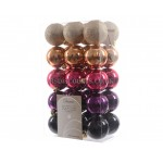 Lumineo 60cm Assorted Colour Shatterproof Baubles  Pack of 30
