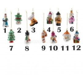 Lumineo 7cm Christmas Themed Baubles 12 Designs Available