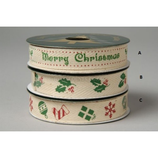 Deco Canvas Christmas Ribbon