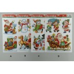 Christmas Theme Vinyl Window Stickers 3 Per Sheet