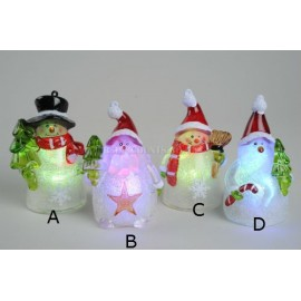 Lumineo 9cm LED Snowman Decoration