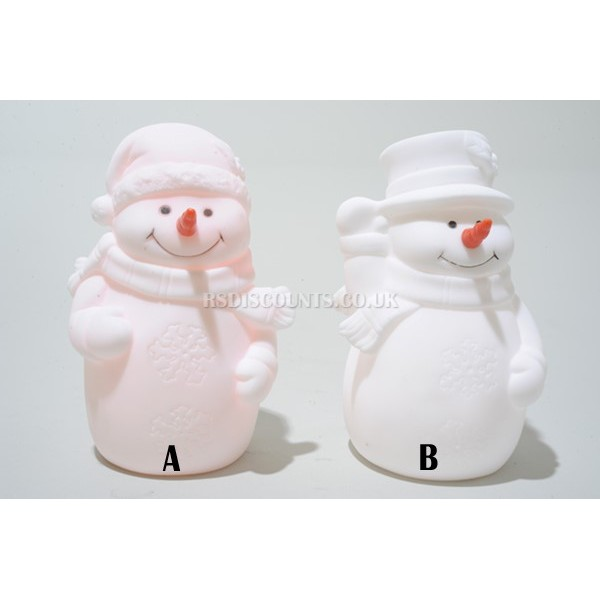 "Decoris 5"" Colour Changing LED Snowman Choice of 2 Designs"