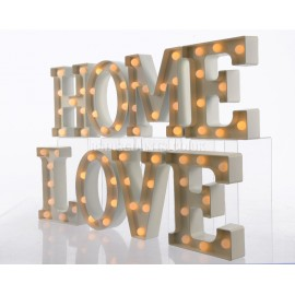 Lumineo Warm White LED Love or Home Text