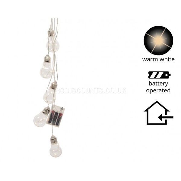 Lumineo 15 Warm White Battery Operated Decorative Lights