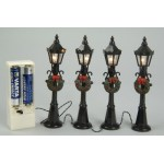 Lumineo 4 Miniature Battery Operated Street Lamps