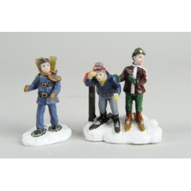 Lumineo Set of 2 Skier figurines