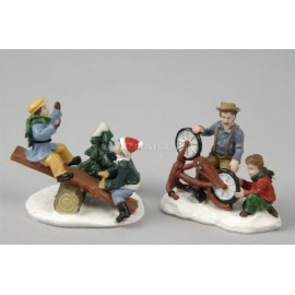 Lumineo Set of 2. Children playing figurines
