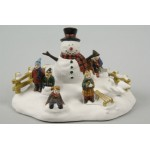 Lumineo Snowman & Chrildren Chrstmas Ornament
