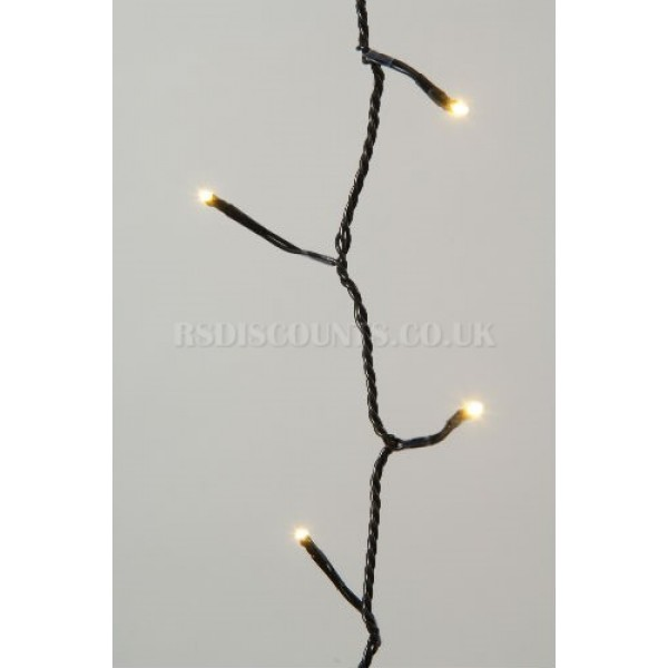 Lumineo Warm White 180 LED Twinkle Lights 13.5m Green Cable Indoor or Outdoor Use