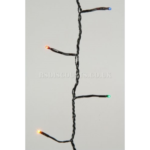 Lumineo Multi Coloured 360 LED Twinkle Lights 27m Green Cable Indoor or Outdoor Use