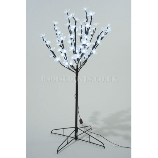 Lumineo 90cm LED Prelit Outdoor Blossom Christmas Tree