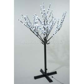 Lumineo 215cm 600 Cool White LED Pre-lit Outdoor Blossom Christmas Tree