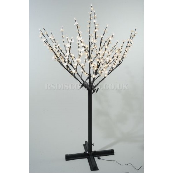 Lumineo 215cm 600 Warm White LED Pre-lit Outdoor Blossom Christmas Tree
