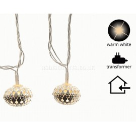 Lumineo 30 Warm White LED Silver Bauble Lights