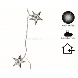 Lumineo 5.8m 30 Warm White LED Star Design Decoration Lights
