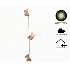 Lumineo 3.8m 20 Warm White LED Butterfly Design Decoration Lights