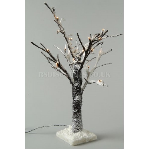 Lumineo 120cm Warm White LED Pre Lit Snowy Paper Chistmas Tree