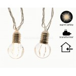 Lumineo 20 Warm White LED Light Bulb Shape Bauble Lights
