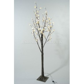 Lumineo 125cm Warm White LED Silver Dollar Tree