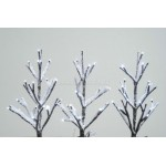 Lumineo 3 Cool White LED Mini Snowy Christmas Trees