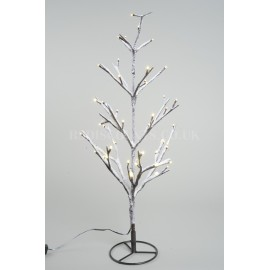 Lumineo 120cm Warm White LED Pre lit Outdoor Snowy Christmas Tree