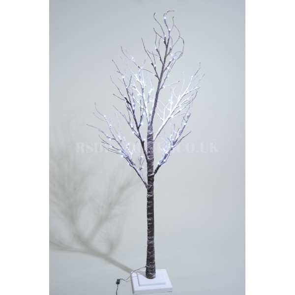 Lumineo 160cm LED Prelit Snowy Paper Christmas Tree SUITABLE FOR OUTDOOR USE