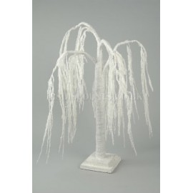 Deco 150CM Snowy Weeping Willow Paper Tree