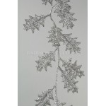 Lumineo Silver Glitter Holly Garland