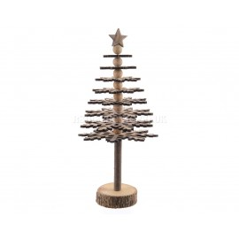 Lumineo 36cm Wooden Snow Flake Christmas Tree
