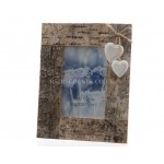 Lumineo 17 x 22cm Glazed Rustic Blond Wood Picture Frame with Hanging Hearts