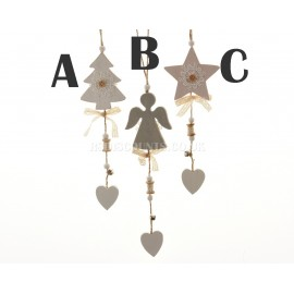 Lumineo Hanging Wooden Decorations in Three Designs