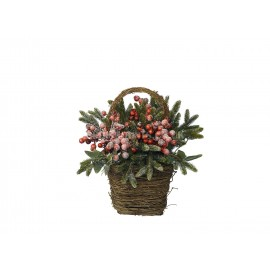 Everlands 30cm Woodland Fern Berry Basket