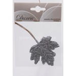 Decoris 6cm Wired Glitter Leaves