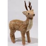 Lumineo 45cm Natural Glittered Rain Deer Figure