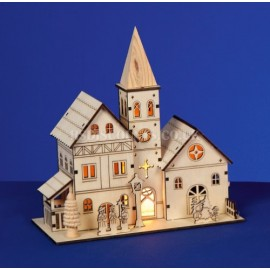 Premier 21cm Lit Wooden Church