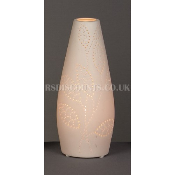 Premier 28cm Pear Shaped Porcelain Vase Table Lamp