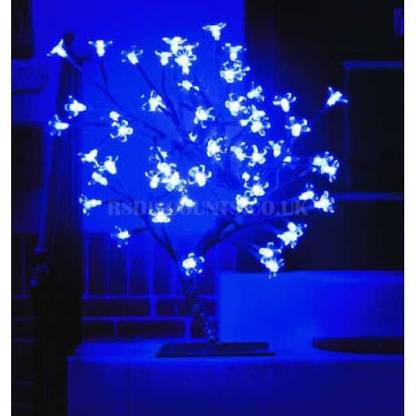 Snow Time 45cm Electric Blue LED Outdoor Cherry Blossom Tree