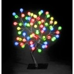 Snow Time 45cm Multi Coloured LED Outdoor - Indoor Globe Tree
