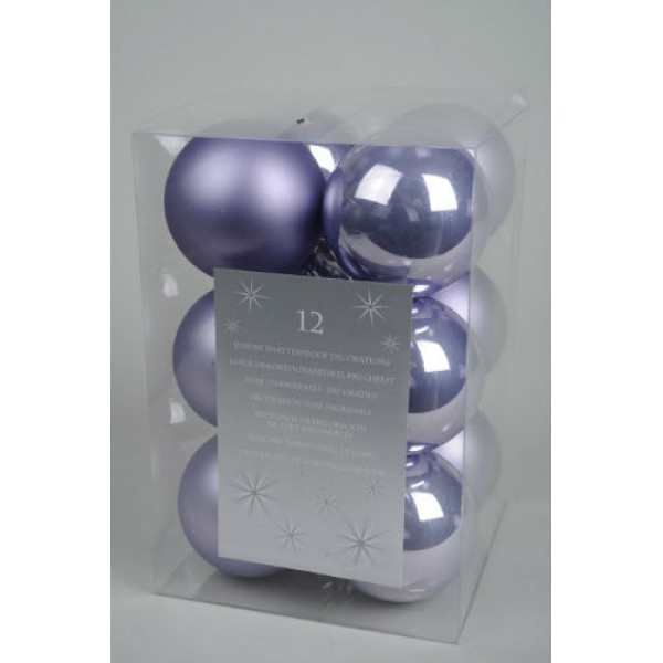 Deco 12 Luxury 6cm Shatterproof Baubles Available in 6 Colours