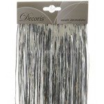 Decoris Silver Coloured Shiny Lametta Tinsel